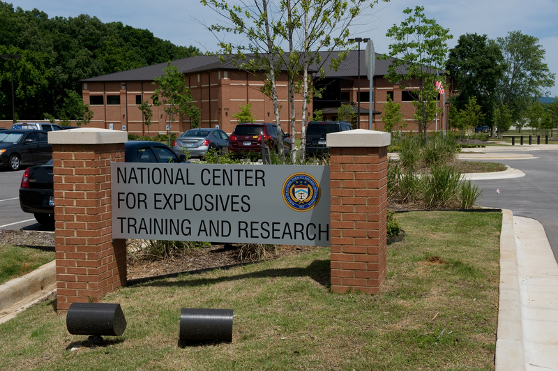 Building with sign that reads National Center for Explosives Training and Research