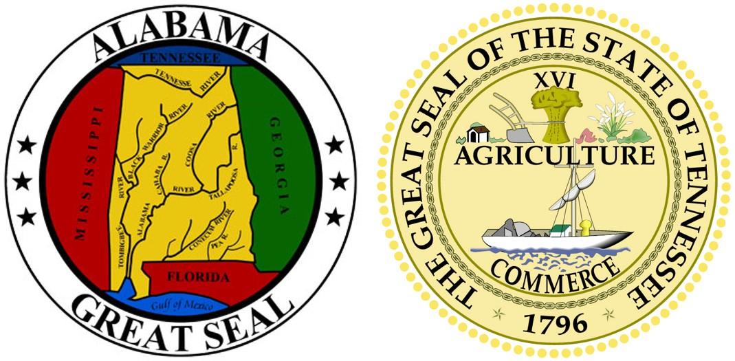 Nashville Field Division State Seals