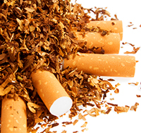 image of a small pile of cigarettes