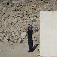 Industry Operations Investigator inspects the explosives activity in a stone quarry