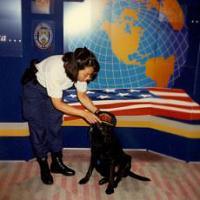 Special Agent Canine Handler Grace Reisling and K-9 Charlie