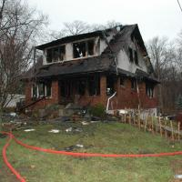 Damaged house at 18 Boulevard, Suffern, NY