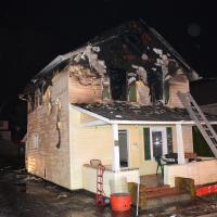 Damaged house at 63 Boulevard, Suffern, NY