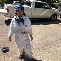 SA-CFI Cindy Chang partnered with Portland Fire and Rescue to investigate a fire incident