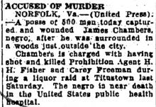 Newspaper article regarding Cary Freeman's killer..
