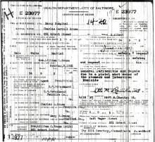 Image of Charles C. Rouse's certificate of death