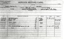 Image of Charles C Rouse's Service Record Card