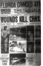 Image of newspaper article with headline, Wounds Kill Charles Stevens (page 1 of 2)