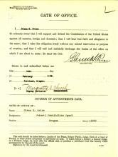 Oath of Office for Glenn Price