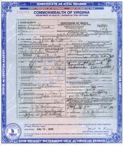 Death Certificate of Howard Fisher