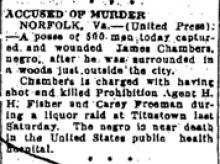 Newspaper article regarding Howard Fisher's killer.