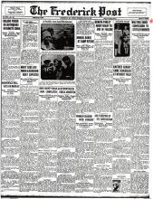 Image of the Frederick Post newspaper article, titled Walters Signs Confession to Stotler Murder