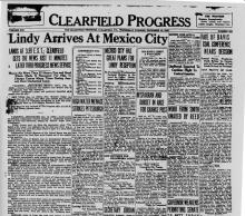 Image of the Clearfield Progress newspaper article, dated December 14, 1927, titled Life Sentence for Killing Dry Agent