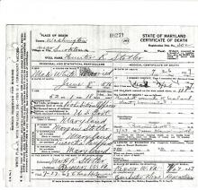 Image of Hunter R. Stotler's certificate of death
