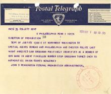 Telegram - John Finiellos murderers arrest