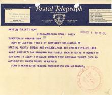 Telegram - John Finiellos murderers arrest