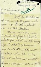 Letter - From the Gang that Murdered John Finiello - Page 1