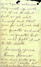 Letter - From the Gang that Murdered John Finiello - Page 2