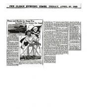 Newspaper article regarding John Watson