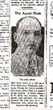 Image of newspaper photograph of Dry Agent Slain