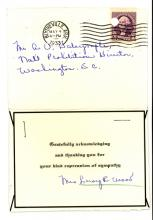 Image of Thank You note from Mrs. Leroy Wood