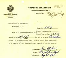 Image of Louis M. Davies oath of office document
