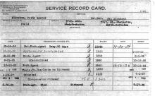Image of service record card for Posie L. Flinchum