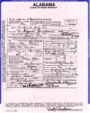 Image of Remus Buckner certificate of death