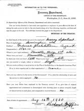 Image of personnel document of Richard Griffin.