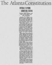 Picture of the Atlanta Constitution regarding Richard Jackson.