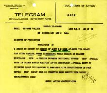 Robert Buck Notification of Death Telegram