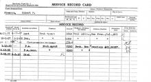 Image of Robert D. Freeman's service record card