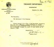 Image of a telegram regarding the death of Walter C Mobray