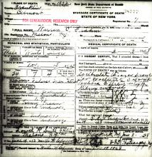 Image of Warren C. Frahm certificate of death