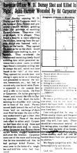 Picture of  a newpaper article about William Daniel Dorsey.