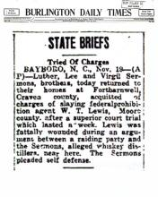 Image Birlington Daily Times newspaper article with headline, State Briefs