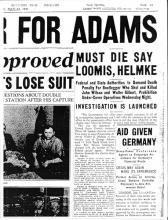 Image of newspaper article with headline: Must Die Say Loomis, Helmke