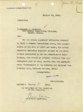Letter of Appointment for Norval DeArmond, dated January 30, 1922