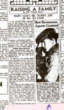 Newspaper article with headline: Slew Revenooer, Agents Contend