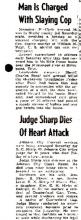 Newspaper Article-Man is Charged with Slaying Cop