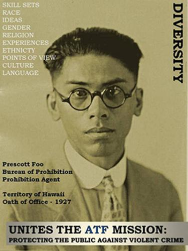 Image of Prohibition Agent Prescott Foo who served in the territory of Hawaii.  He took the oath of office in 1927.