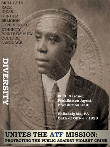 Image of Prohibition Agent W. B. Gardner. He took the oath of office in 1920 and served in Philadelphia, Pennsylvania.