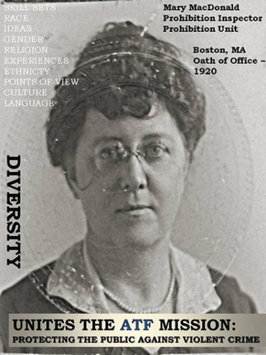 Image of Prohibition Inspector Mary MacDonald.  She took the oath of office in 1920 and served in Boston, Massachusetts.