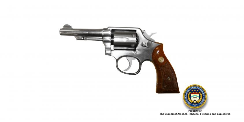 An image of a Smith and Wesson Model 64 Revolver