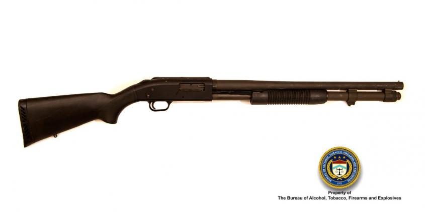 Mossberg Make: 590, pump action Model: 12 gauge