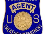 Image of the badge for the Bureau of Prohibition, U.S. Department of Treasury 1927-1930
