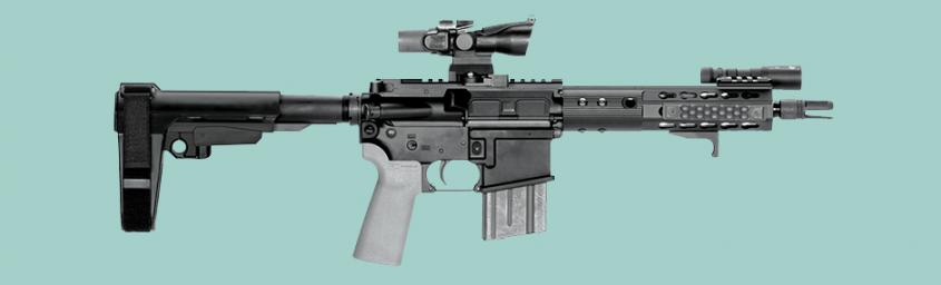 """Example of firearm with """"stabilizing brace"""" to be evaluated by ATF"""