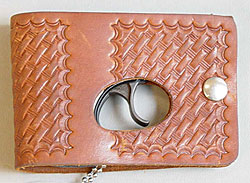 Image of a brown wallet holster