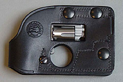 Image of a black wallet holster