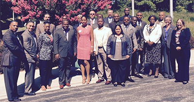 Image of the graduates of the Caribbean firearms examiners class